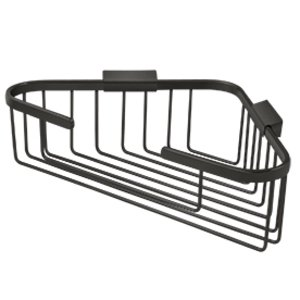 "Deltana - Solid Brass 13"" Corner Wire Basket in Oil Rubbed Bronze"