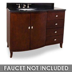 Jeffrey Alexander By Hardware Resources Mahogany Modern 48 Bathroom Vanity In With