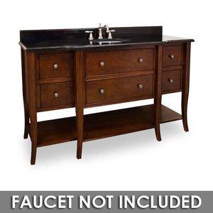 Jeffrey Alexander Large Bathroom Vanities 60 1 2 Bathroom Vanity In Chocolate With Black Granite Top And Bowl