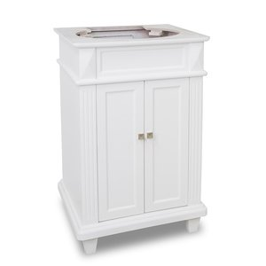 "Elements by Hardware Resources - Douglas - 22-7/8"" Vanity in Painted White"