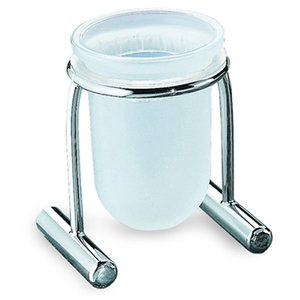 Italbrass Onda Collection - Free Standing Tumbler Holder with Frosted Glass Tumbler
