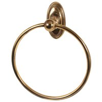 "Alno Inc. Creations - Classic Traditional - 7"" Towel Ring in Polished Antique"