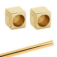 Alno Inc. Creations - Cube - Shower Rod & Brackets in Polished Brass