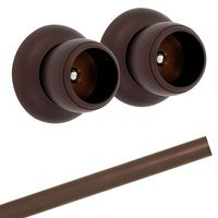 Alno Inc. Creations - Royale - Shower Rod & Brackets in Chocolate Bronze