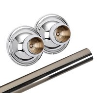 Alno Inc. Creations - Yale - Shower Rod & Brackets in Polished Chrome
