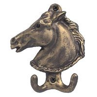 Anne at Home - Horses - Large Horse Hook in Pewter Matte