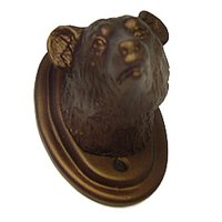Carpe Diem Hardware - Oak Hollow Bear - Large Hook in Cobblestone