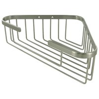 "Deltana Hardware - Solid Brass Bathroom Baskets - Solid Brass 13"" Corner Wire Basket in Brushed Nickel"