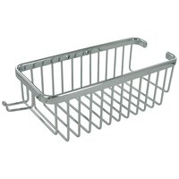 "Deltana Hardware - Solid Brass Bathroom Baskets - Solid Brass 10"" Rectangular Shampoo Wire Basket with Hook in Chrome"