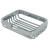 "Deltana Hardware - Solid Brass Bathroom Baskets - Solid Brass 4 1/2"" Rectangular Soap Holder in PVD Brass"