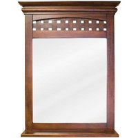 "Elements Hardware - Bathroom Vanity Mirrors - 26"" x 34 1/4"" Mirror in Nutmeg with 3 1/2"" Shelf and Beveled Glass"