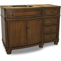 "Elements Hardware - Large Bathroom Vanities - 46-1/2"" Base Vanity in Painted Walnut"