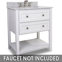 Elements Hardware - Large Bathroom Vanities - Vanity with Preassembled top and bowl in Painted White with White Top