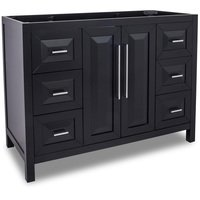 "Jeffrey Alexander - Large Bathroom Vanities - Vanity 47"" x 21-1/2"" x 35-3/16"" in Black"