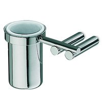 Italbrass - Musa - Glass Holder with Tumbler in Satin Chrome