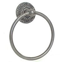 LB Brass - Louis XV - Towel Ring in Satin Black