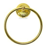 RK International - European Style Plain with Line - Towel Ring in Polished Brass