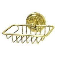 RK International - Flower Design - Soap Dish in Polished Brass