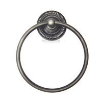 RK International - Rope Design - Towel Ring in Distressed Nickel
