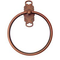 RK International - French Curve Design - Towel Ring in Distressed Copper