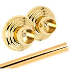 Alno Creations Bathroom Accessories - Embassy Shower Rod & Brackets in Polished Brass